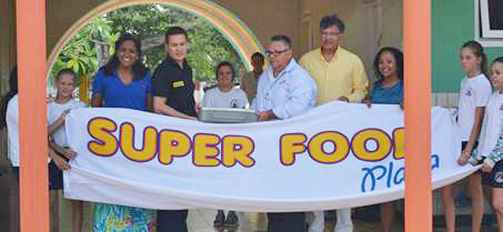 Super Food donates water